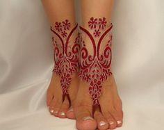 Beach shoes bridal sandals lariat sandals wedding by BarefootShop