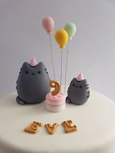 Edible-3D-Pusheen-Cat-Kitten-Kitty-Balloon-Cake-Topper-Name-Age-Birthday