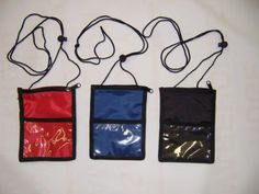 Neck wallets for passport... does not specify color