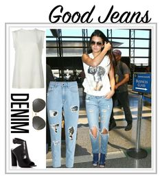 """Denim: Distressed Jeans"" by kolett85 ❤ liked on Polyvore featuring H&M, Dolce&Gabbana, Kendall + Kylie, Linda Farrow and distresseddenim"