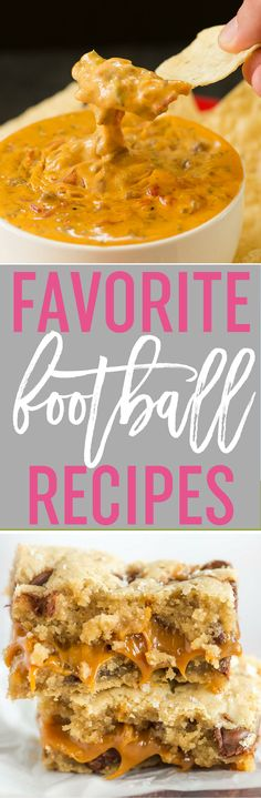 80 of My Favorite Football Food Recipes - Lots of recipes perfect for football watching including dips, appetizers, savory snacks, legit meals, and of course - sweets! via @browneyedbaker