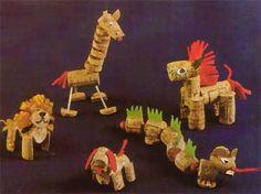Tiere aus Korken