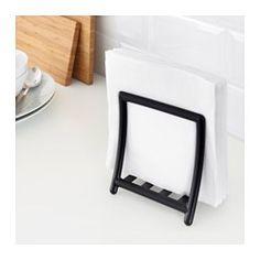 GREJA Porte-serviettes, noir - IKEA