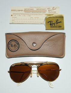 14c2f0bce909 RayBan Bausch   Lomb Aviator Amber by MadeFoundCollected on Etsy