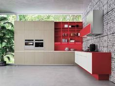 The ORANGE EVO by Snaidero. A refreshed concept which adapted itself to your interior and living room.   #Design #Snaidero #Kitchen #Brussels
