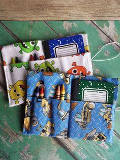 Mini Crayon Organizer Wallet boy crayon holder by HelloCutieShop