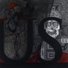 Deus Sex Machina no. 6 / Ink on canvas / 80x80 cm