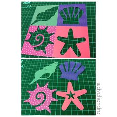 Sea creatures kirigami