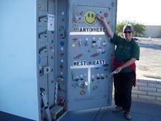 Geocaching - Biggest geocache container in Arizona ~ Sea Shells-TB Stop & Go (GCNWBC) in Yuma, AZ