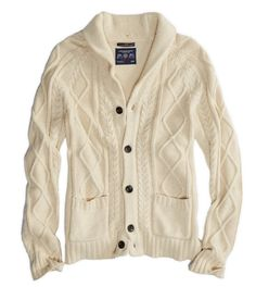 AE Cable Knit Cardigan - Although any creme-colored cardigan from American Eagle is on my wish list for the Holiday Season, AE's brand of men's wear is the best out there in my opinion - My Favorite Things