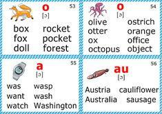 phonics flashcards for learning english short o sound