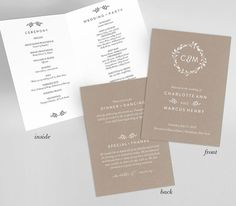 FREE Wedding Program Cover Template Pinterest Wedding Programs - Wedding program cover templates