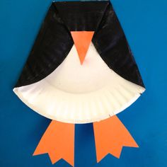 Paper plate Penguin Kids Craft !
