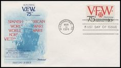 1525 / Veterans of Foreign Wars 1974 Fleetwood First Day Cover First Day Covers, The Millions, One Day, Read More, Initials, United States, War, Reading, Steve Rogers