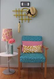 I love color.    upholstery diy