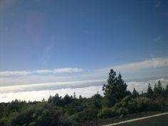 mar de nubes, bajando al llano