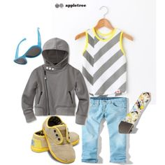 """""""Gray & Yellow and a Touch of Turquoise"""" by boysbecool on Polyvore"""