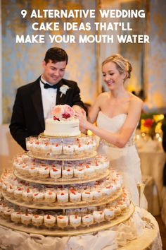 to a Traditional Wedding Cake That Your Guests Will Love! Alternatives to A Traditional Wedding Cake That Your Guests Will Love! Alternatives to A Traditional Wedding Cake That Your Guests Will Love! Alternative Wedding Cakes, Wedding Cake Alternatives, Traditional Wedding Cakes, Traditional Cakes, Perfect Wedding, Dream Wedding, Wedding Day, Gown Wedding, Wedding Rings