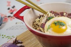 Love the sauce in this ramen soup - Fire In My Belly Cookbook Review - The Girl In The Little Red Kitchen by LittleRedKitchen, via Flickr