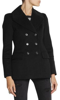 Burberry Double-breasted Cashmere-blend Kylie Kendall Kardashian Pea Coat. Free…