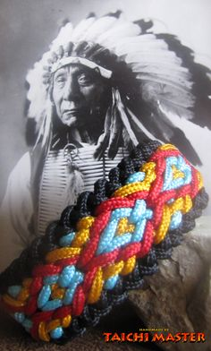 Native American Wide Sanctified Paracord Bracelet