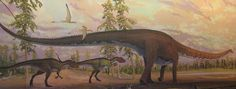 Allosaur mural by Doug Henderson at Boston Museum of Science