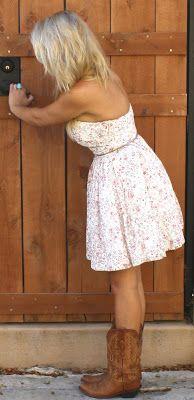 Summer Sun Dress and Cowboy Boots