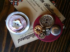 Jewelry made with vintage buttons