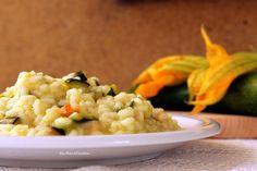 risotto salmone e zucchine