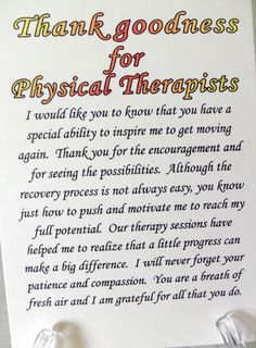 Physical therapist card physical therapy card by PleasinglyPaper