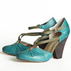 Seychelles Dolley Crisscross Strap Heels In Teal for 99.99