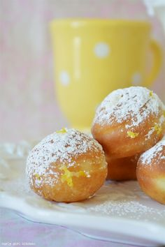 Curly Girl Kitchen: Lemon Doughnut Cream Puffs