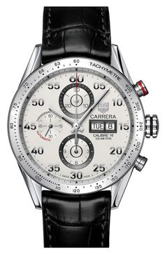 TAG Heuer 'Carrera' Automatic Tachymeter #watch #man #fashion