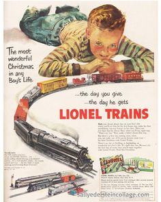 Every boys Christmas dream.  1951 Lionel Train Advertisement.