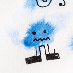 Little blue alien. . . . . . . . . #graphicdesign #illustration #communicationdesign #design #documentary #photography #detail #designisinthedetail #typography #layout #composition #character #characterdesign #workinprogress #berlin #bykingadarsow...