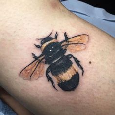 A Manchester Bee tattoo from Alchemy Tattoo Studio Insect Tattoo, Bee Tattoo, Manchester Art, Manchester Tattoo, Alchemy Tattoo, Name Tattoos, Tatoos, Tattoos For Kids, Art Pages