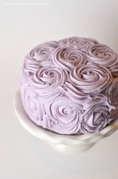 Love everything - the roses, the colour - do you suppose icing is lavender flavoured?