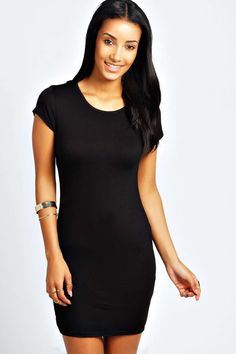 Clare Cap Sleeve Bodycon Dress black - Fabulous Womens Fashion - Current Trends, Must Have Style Bodycon Dress With Sleeves, Black Bodycon Dress, Short Sleeve Dresses, Maxi Dresses, Dress Black, International Fashion Designers, Black Polka Dot Dress, Casual Work Outfits, Bodycon Fashion