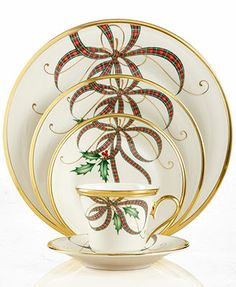 Lenox Dinnerware, Exclusive Holiday Nouveau Ribbon Collection