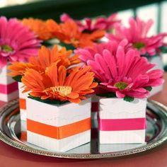 Wedding, Pink, Orange, Yellow, Favors - Photo by dollartree.com