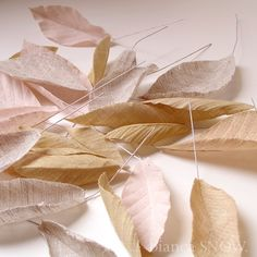 linen leaves. made by Bianca Snow