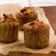 All-Bran™ Apricot Date Muffins Recipe - Bursting with dried fruit, these muffins are made with orange juice for even more flavour. Date Muffins, Bran Muffins, Muffin Recipes, Bread Recipes, Cake Recipes, Dried Apricots, Dried Fruit, Raisin Sec, Kitchens