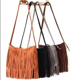 Women messenger bags  Long Tassel European Style Women Handbag Cross Body Bags Lady Shoulder Bags Fashion Bags Bolsa  Franja - $13,25