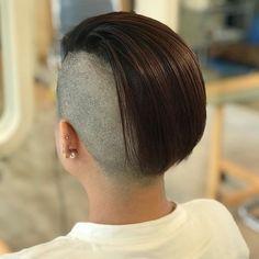 Half Shaved Head Hairstyle, Buzzed Hair, Side Cuts, Undercut, Shaving, Short Hair Styles, Hair Cuts, People, Instagram