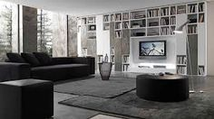 Presotto Layout 341 Bookcase with a matt bianco candido lacquered ...