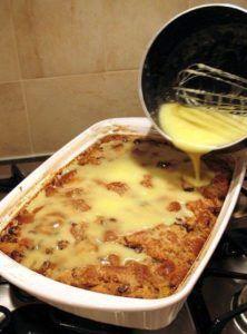 Grandma's Old-Fashioned Bread Pudding with Vanilla Sauce! #recipes #Grandma's #bread  #pudding