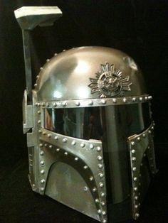 A steampunk Boba Fett helmet. A perfect Christmas gift?