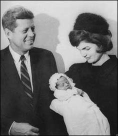 JFK and Jacqueline Kennedy have a baby girl, Caroline Bouvier Kennedy, on November 27, 1957