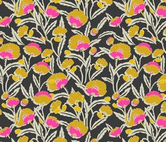 zebrini_floral_mambo fabric by holli_zollinger on Spoonflower - custom fabric