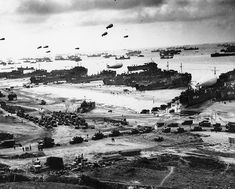 The Normandy invasion beaches - the assault on fortress Europe, June, 1944.